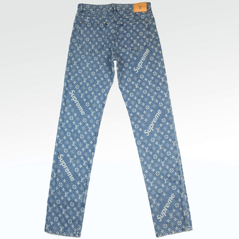 46df094a8114 Supreme x Louis Vuitton Monogram Regular Jeans ...