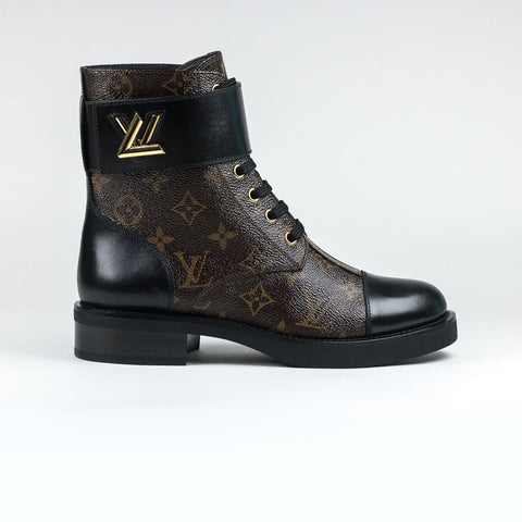 Louis Vuitton Brown Monogram Wonderland Flat Ranger Boots
