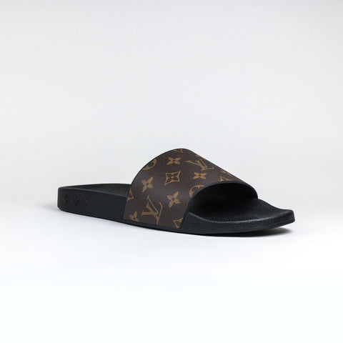 Monogram Waterfront Mule Slides Brown