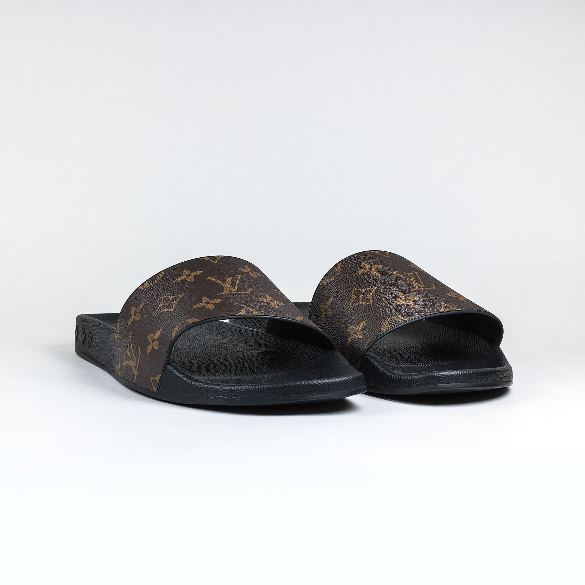 6024df86a5a Louis Vuitton Monogram Brown Waterfront Mule Slides
