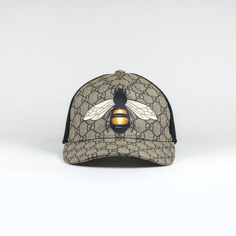Bee Monogrammed Canvas Baseball Cap