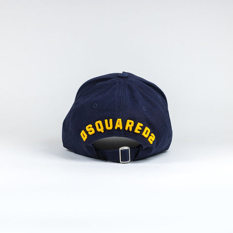 Dsquared2 Icon Baseball Cap Navy Yellow