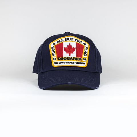 Dsquared2 Canada Flag Baseball Cap Navy