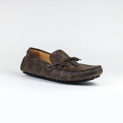 Arizona Brown Monogram Moccasin