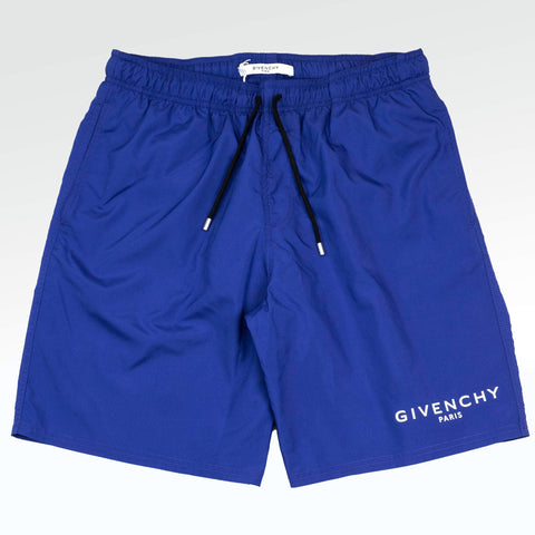 Givenchy Paris Small Logo Shorts Blue