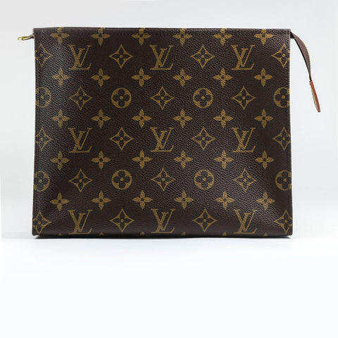 Louis Vuitton Pochette Toiletry Pouch 26 Monogram Brown
