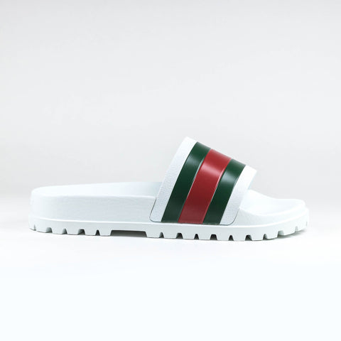 bd50276127e Gucci Web Chunky Pool Slides White Red Green – Crepslocker
