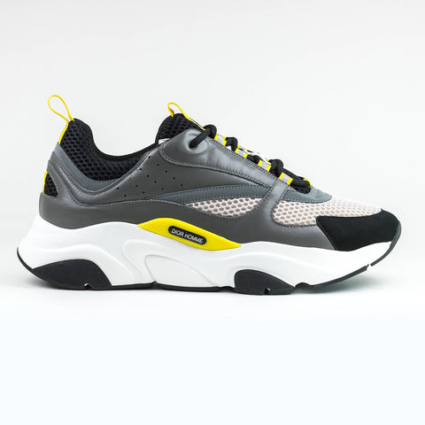 Dior B22 Grey And Yellow Trainer