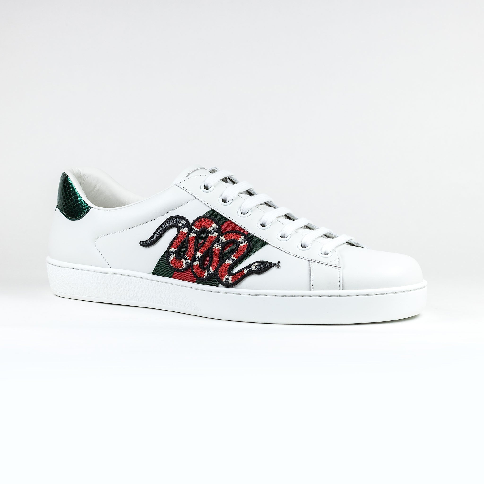 331ef8570 Gucci Ace Snake Embroidered White Sneaker – Crepslocker