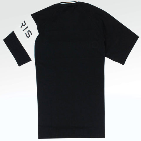 Givenchy Paris Embroidered Oversized Logo T Shirt Black White