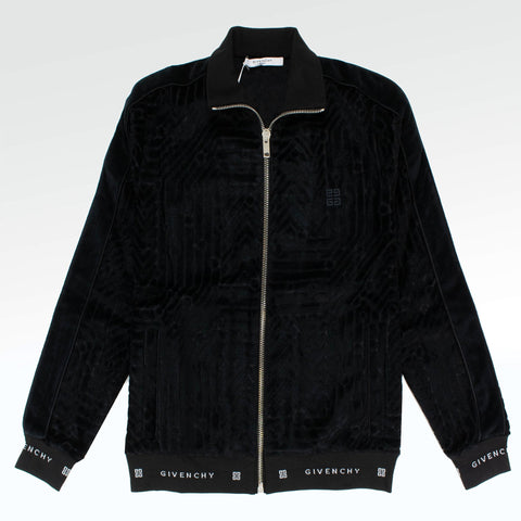 Givenchy Paris Embroidered Pattern Velour Jacket