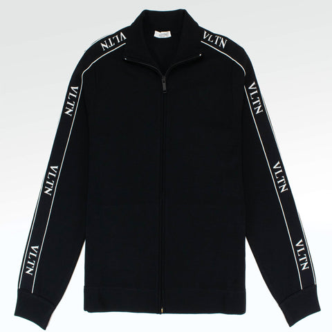 Valentino VLTN Zip Up Track Jacket Black