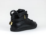 Buscemi Core Clip Leather Black High Sneaker