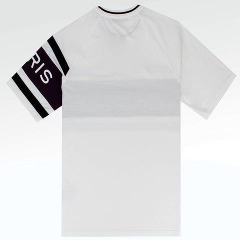 Givenchy Paris Embroidered Oversized Fit Logo T Shirt White Purple