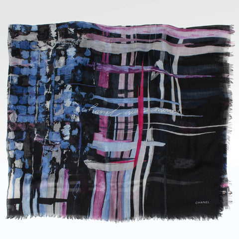 Chanel CC Paint Silk Scarf