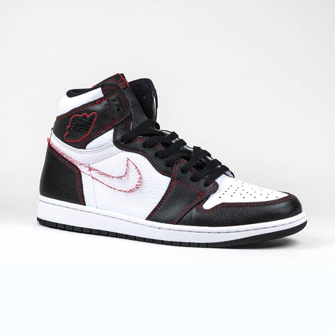 Nike Air Jordan 1 Retro High Defiant White Black Gym Red