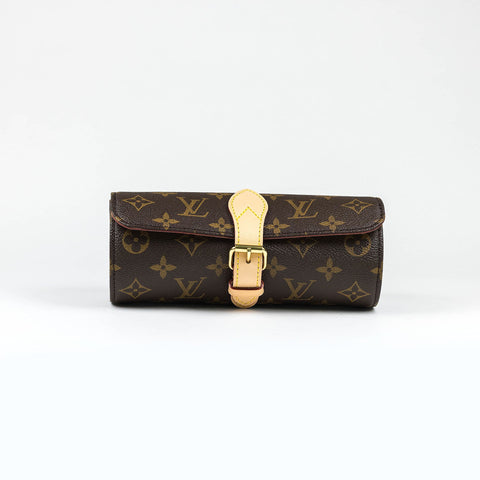 3e87bd1e956 Louis Vuitton Monogram Brown 3 Watch Case