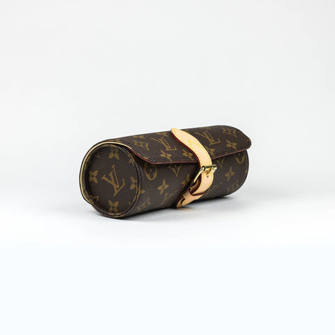Louis Vuitton Monogram Brown 3 Watch Case