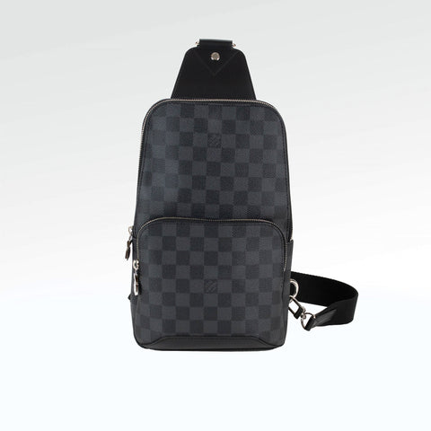 ceb2a62ad Louis Vuitton Damier Black Avenue Sling Bag – Crepslocker