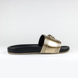 Versace Medusa Slides Black Gold