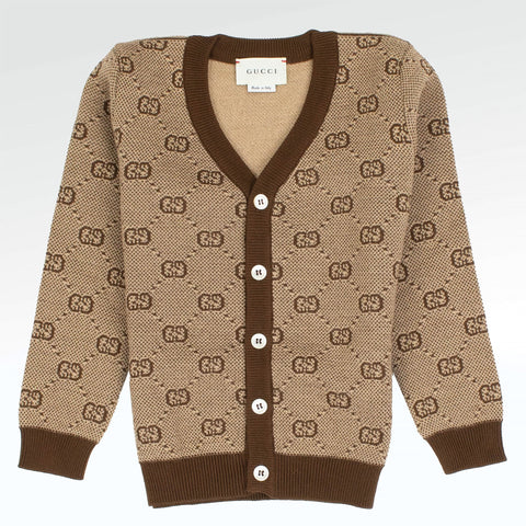 Gucci GG Baby Boys Beige Wool Set