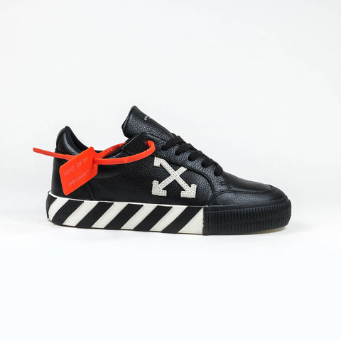 Off-White Vulcanised Black Leather Sneaker
