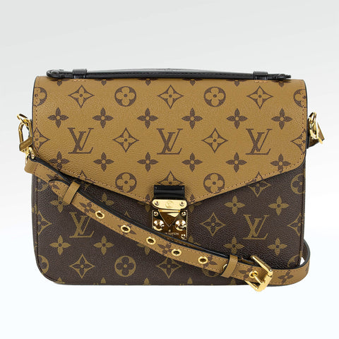 Louis Vuitton Monogram Brown Reverse Pochette Metis