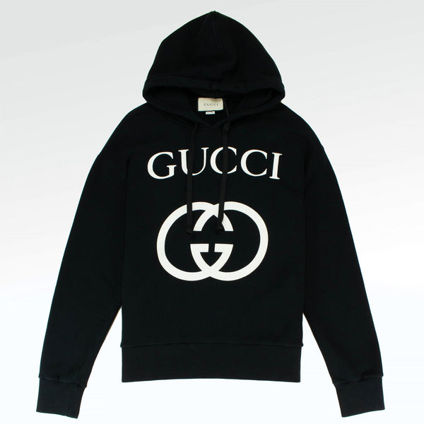 Gucci Gg Interlocking Logo Hoodie Black Crepslocker