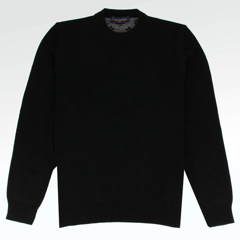 Louis Vuitton Half and Half Monogram Crewneck Black Sweater
