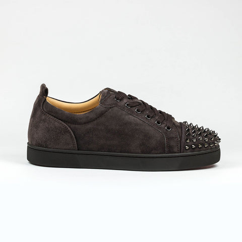 Christian Louboutin Louis Junior Spikes Suede Reglisse