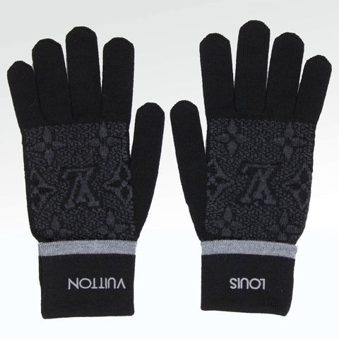 Louis Vuitton My Monogram Eclipse Gloves Black