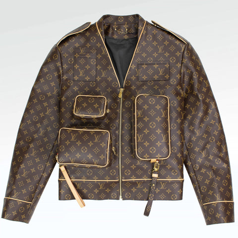 Louis Vuitton Monogram Brown Admiral Leather Jacket