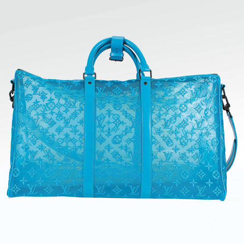 Louis Vuitton Mesh Blue Triangle Keepall 50