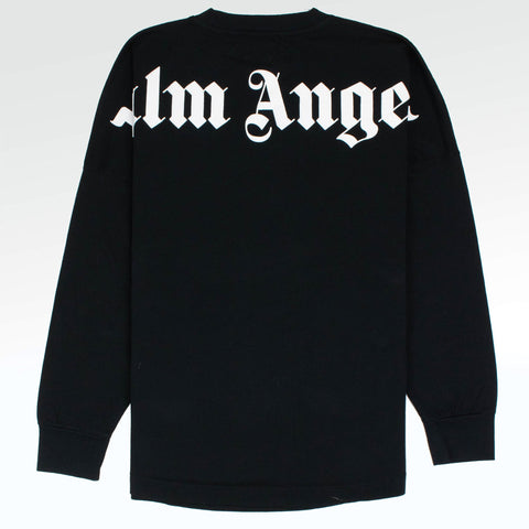 Palm Angels Logo Collar Back Black Long T Shirt
