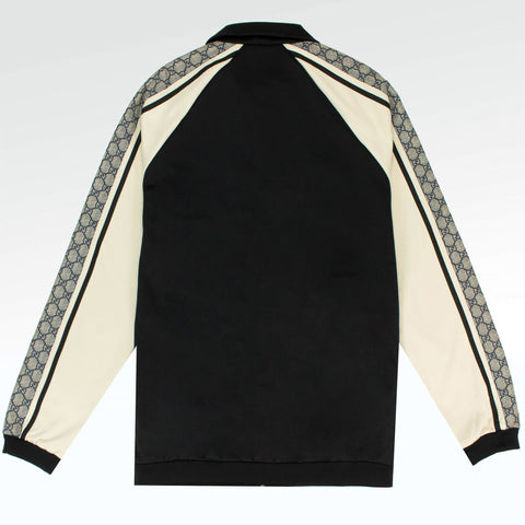 Gucci GG Striped Jersey Jacket Black