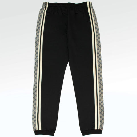 Gucci GG Striped Jersey Sweatpants Black