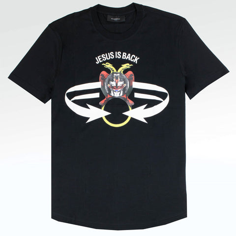 Givenchy Paris Jesus Is Back Back Black T Shirt