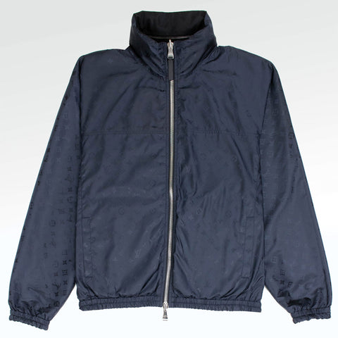 Louis Vuitton Monogram Reversible Windbreaker Navy Black Jacket