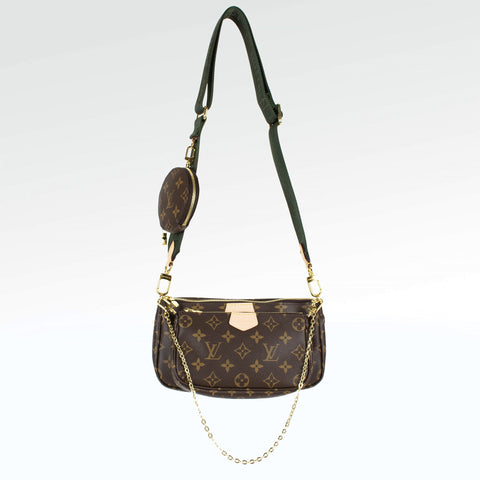 Louis Vuitton Multi Khaki Pochette Accessories