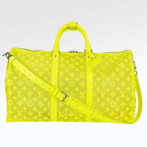 Louis Vuitton Mesh Yellow Keepall 50