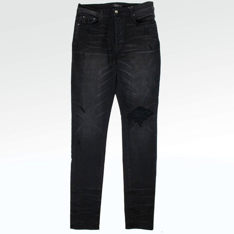 Amiri Broken Black Jeans