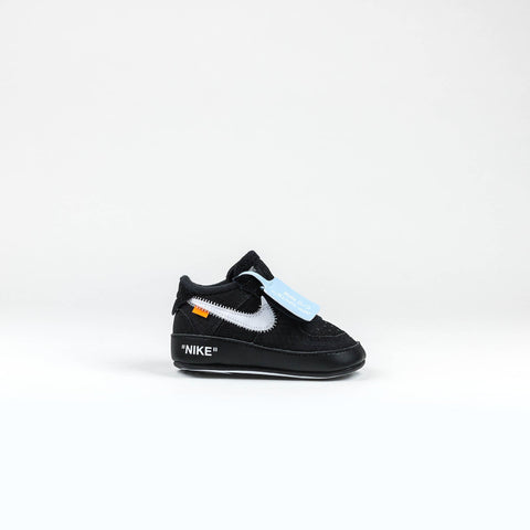 2bd454121120 Nike x Off White Infant Air Force 1 Triple Black – Crepslocker