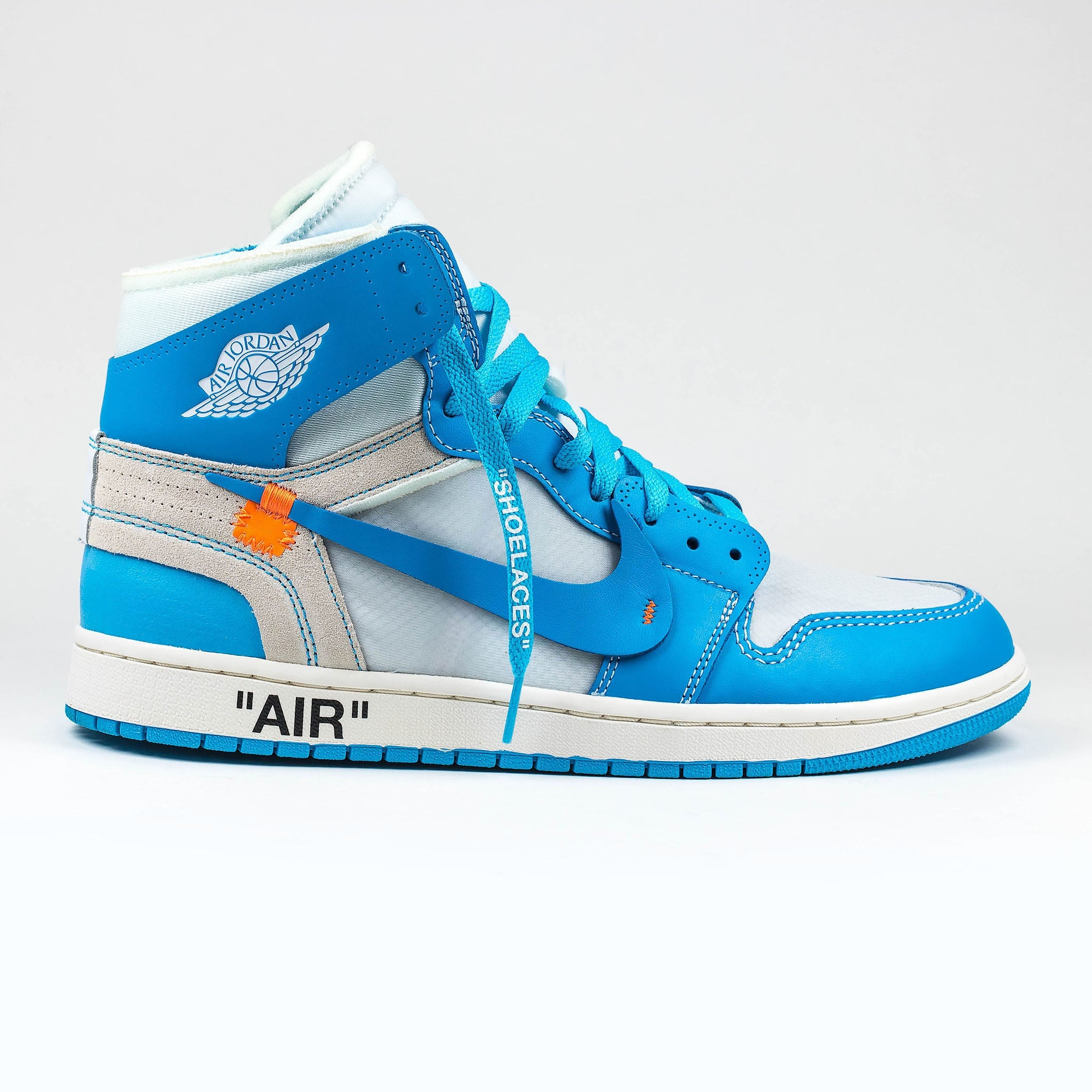 1d2a29e40853 Nike x Off White Air Jordan 1 UNC University Blue – Crepslocker