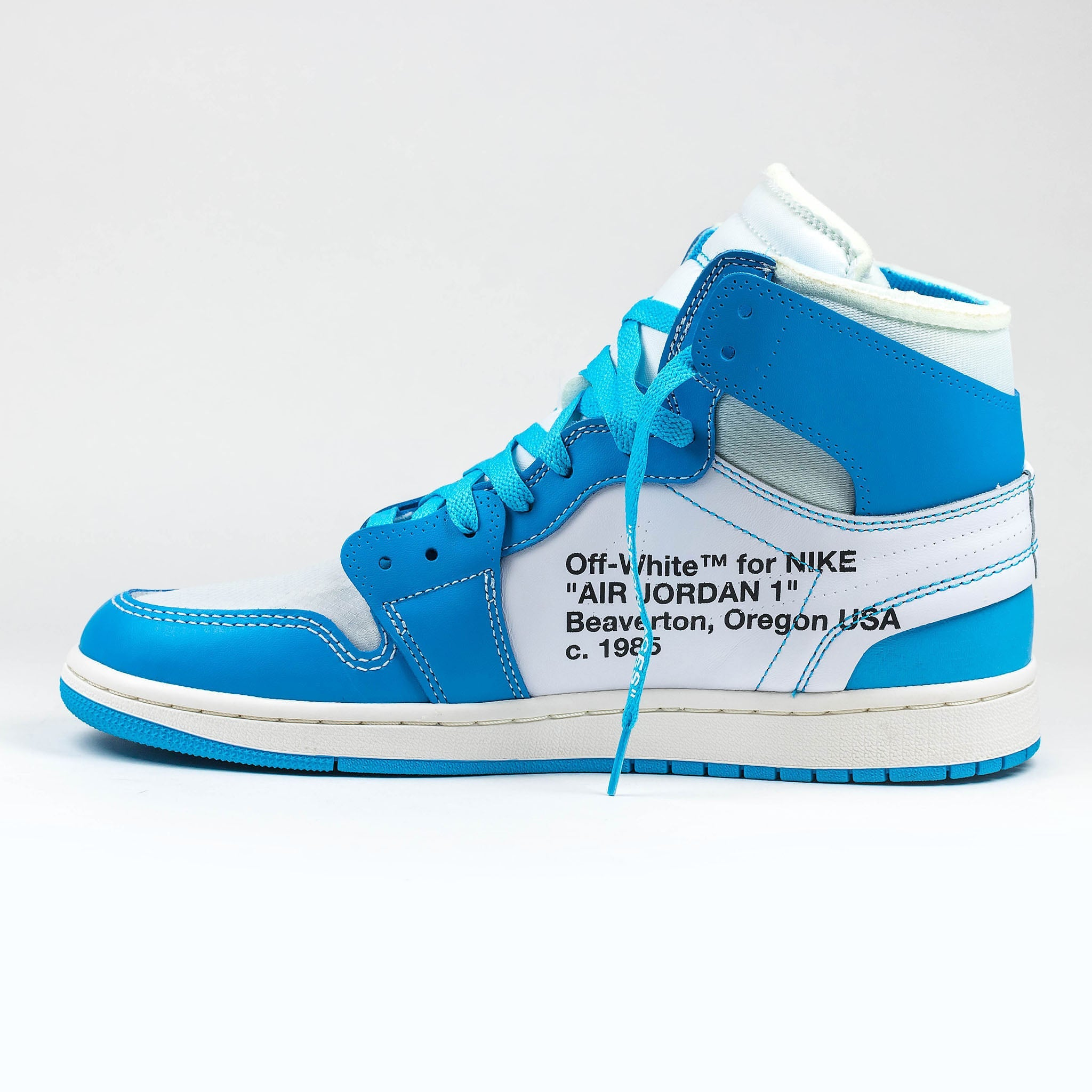 c83e5cf670b Nike x Off White Air Jordan 1 UNC University Blue – Crepslocker