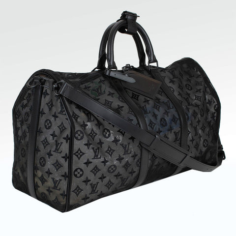 Louis Vuitton Mesh Black Keepall 50