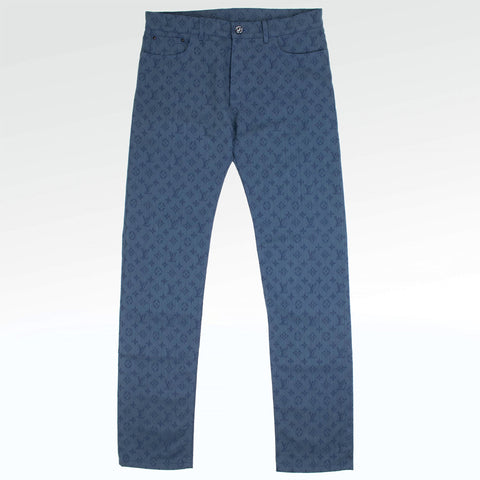 Louis Vuitton Monogram Navy Blue Regular Jeans