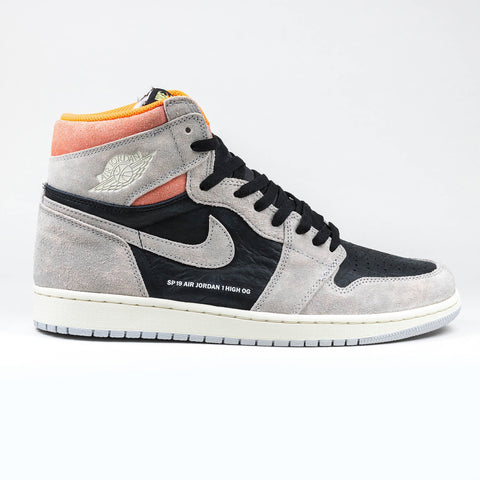 Nike Air Jordan 1 Retro High  Neutral Grey Hyper Crimson