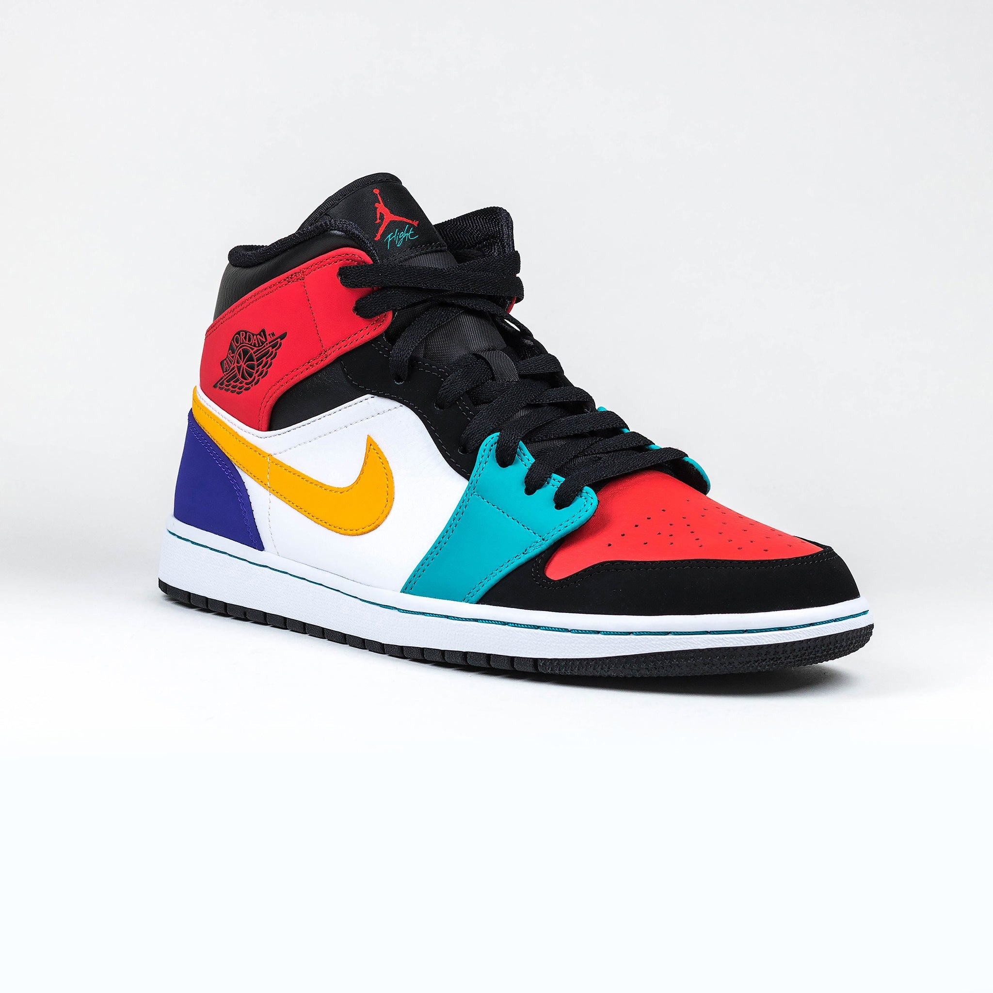 reputable site 7a5ec feefc Nike Air Jordan 1 Mid Bred Multi Color Sneaker – Crepslocker