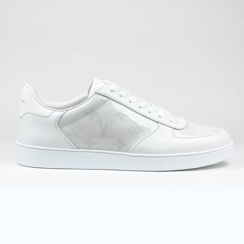 737680c8894a6 Louis Vuitton White Monogram Transparent Rivoli Sneaker – Crepslocker