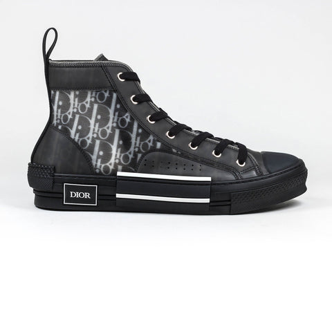 DIOR B23 DIOR OBLIQUE HIGH BLACK SNEAKER